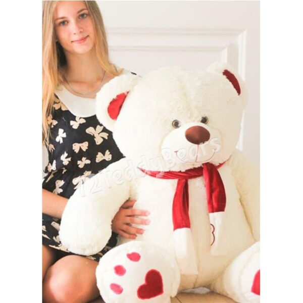 Плюшевый медведь Валентин 110см молочного цвета в г.Тюмень