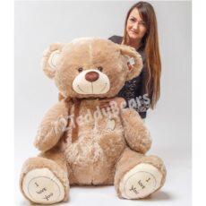 Плюшевый медведь 150см бежевого цвета I love you г.Тюмень