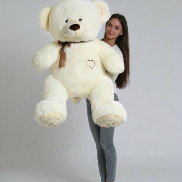 Купить большого плюшевого медведя Тюмень 150см бежевый