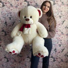 Купить мягкого медведя 110см в Тюмени бежевого цвета за 1890₽. Доставка. Самовывоз.