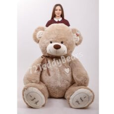 Купить огромного плюшевого медведя 230 см бежевого цвета в Тюмени