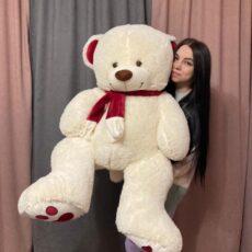 Купить плюшевого медведя 150 см белого цвета в Тюмени за 3090₽. Доставка. Самовывоз.